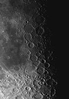Rupes Recta Ridge and Craters Pitatus and Tycho Fine Art Print