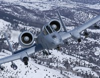 A-10C Thunderbolt  Flies over Snowy Idaho Fine Art Print