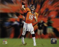 Peyton Manning Motion Blast Fine Art Print