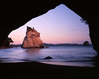 Coastline, Cathedral Cove, Coromandel Peninsula, North Island, New Zealand Fine Art Print