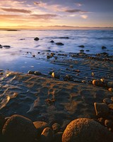 Sunset, Tasman Bay, South Island, New Zealand Fine Art Print