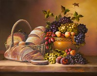 Fruit and Bread Fine Art Print