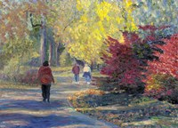 Autumn in the Park Fine Art Print