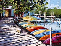 Kayak Dock Fine Art Print
