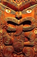 Historic Maori Carving, Otago Museum, New Zealand Fine Art Print