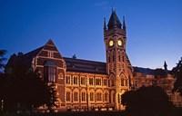 Building at University of Otago, Dunedin, New Zealand Fine Art Print