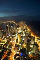 Australia, Queensland, Surfers Paradise, City Skyline Fine Art Print