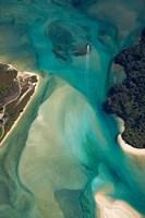 Tidal Patterns, Awaroa Inlet, South Island, New Zealand Fine Art Print