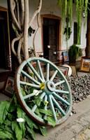 Wagon Wheel, La Posada De Don Rodrigo Hotel, Antigua, Guatemala Fine Art Print