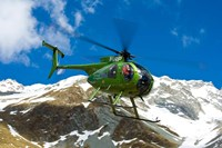 New Zealand, Arrowsmith Range, Helicopter Fine Art Print
