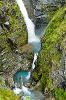 New Zealand, Arthurs Pass NP, Waimakariri falls Fine Art Print