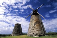 Antigua, Betty's Hope, Suger plant, windmill Fine Art Print