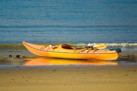 New Zealand, South Island, Titirangi Bay, Kayaking Fine Art Print