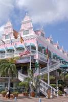 Dutch Architecture of Oranjestad Shops, Aruba, Caribbean Fine Art Print