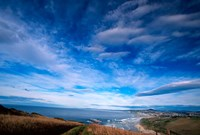 New Zealand, South Island, view towards Dunedin Fine Art Print