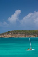 Antigua, Dickenson Bay, Sailboat Fine Art Print