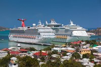 Antigua, St Johns, Heritage Quay, Cruise ship area Fine Art Print