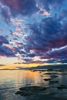 New Zealand, South Island, Kaikoura, South Bay Sunset Fine Art Print
