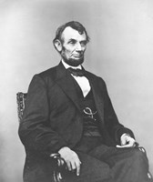 Civil War era painting of President Abraham Lincoln Fine Art Print