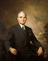 Harry S Truman (color portrait) Fine Art Print