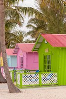 Beach bungalow, Princess Cays, Eleuthera, Bahamas Fine Art Print
