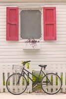 Beach House and Bicycle, Loyalist Cays, Bahamas, Caribbean Fine Art Print