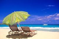 Beach Umbrella, Abaco, Bamahas Fine Art Print