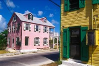 Colorful Loyalist Home, Governor's Harbour, Eleuthera Island, Bahamas Fine Art Print