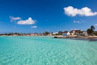Bahamas, Eleuthera Island, Tarpum Bay, town beach Fine Art Print