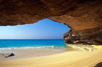 Cave at French Bay, San Salvador Island, Bahamas Fine Art Print