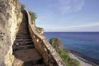 1,000 Steps Limestone Stairway in Cliff, Bonaire, Caribbean Fine Art Print