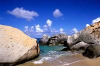 Boulders, Beach, Virgin Gorda, British Virgin Islands Fine Art Print
