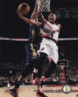 Damian Lillard 2014-15 Action Framed Print