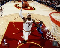 LeBron James 2014-15 slam dunk Fine Art Print