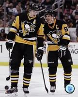 Evgeni Malkin & Sidney Crosby  2014-15 Action Framed Print