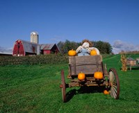 Pumpkin Man and Farm, Vermont Fine Art Print
