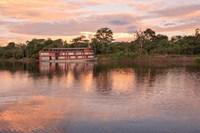 Delfin river boat, Amazon basin, Peru Fine Art Print