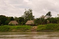 Indian Village on Rio Madre de Dios, Amazon River Basin, Peru Fine Art Print