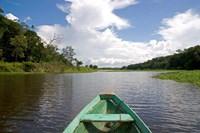 Dugout canoe, Boat, Arasa River, Amazon, Brazil Framed Print