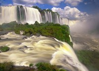 Brazil, Igwacu Waterfalls into the Igwacu River Fine Art Print