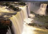 Towering Igwacu Falls Thunders, Brazil Fine Art Print