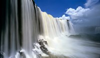 Towering Igwacu Falls Drops into Igwacu River, Brazil Framed Print