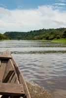 Brazil, Amazon, Valeria River, Boca da Valeria Local wooden canoe Fine Art Print