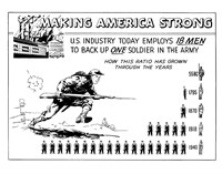 Making America Strong - 18 Men to Back One Soldier Fine Art Print