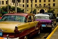 Classic American cars, streets of Havana, Cuba Fine Art Print