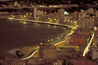 Malecon at Night, Havana, Cuba Fine Art Print