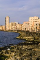 Malecon, Waterfront in Old City of Havana, Cuba Fine Art Print