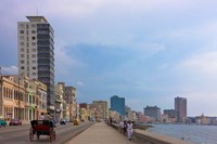Malecon street along the waterfront, Havana, UNESCO World Heritage site, Cuba Fine Art Print