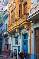 Old house in the historic center, Havana, UNESCO World Heritage site, Cuba Fine Art Print