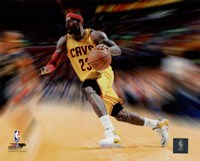 LeBron James Motion Blast Fine Art Print